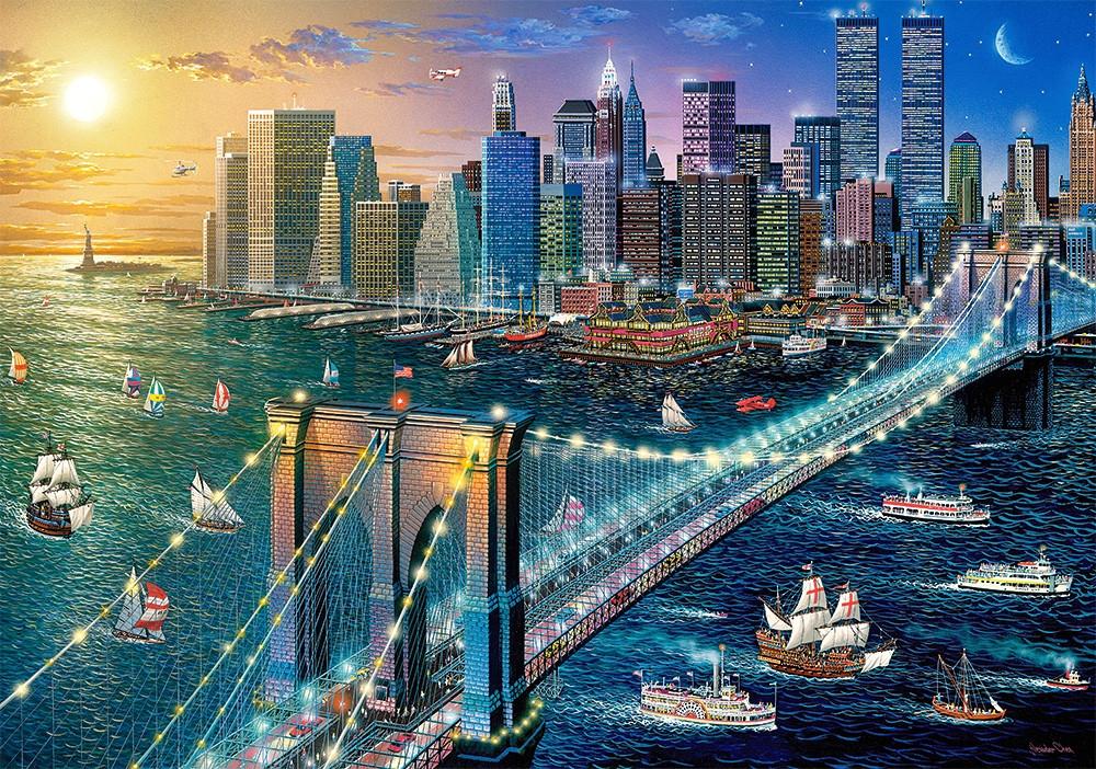 Пазлы Нью-Йорк - Бруклинский мост 500 элементов