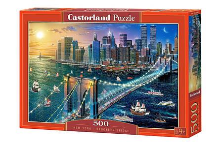 Пазлы Нью-Йорк - Бруклинский мост 500 элементов, фото 2