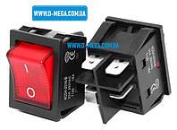 Кнопочный выключатель для сварочного аппарата 30A, 4 контакта с фиксацией и подсветкой 29,0 * 22,0 мм., фото 1