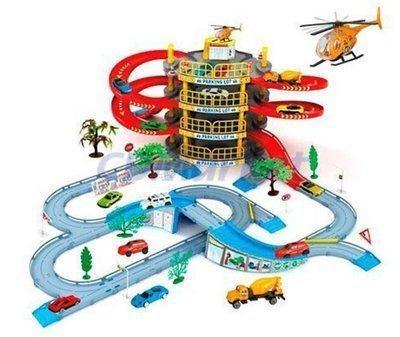 Игровой набор Гараж Мега парковка с вертолетом 922-10. 4 этажа. 2 машинки. вертолет