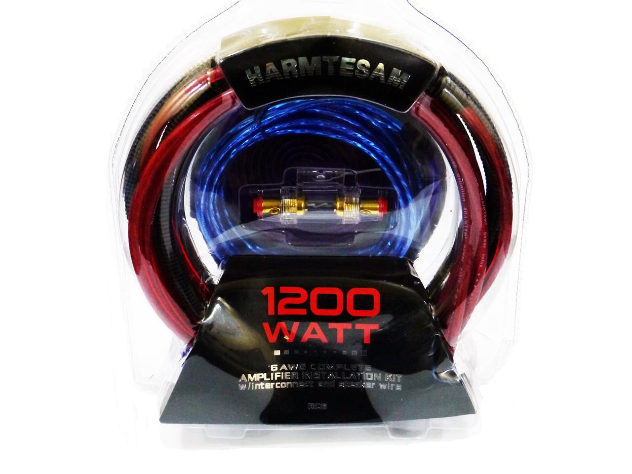 Набор Проводов для Усилителя / Сабвуфера - 1200W