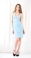 Модное красивое дешевое нарядное платье декольте открытая спинка камни сваровски.  Распродажа! Скидка 50%.