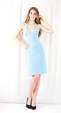 Модное красивое дешевое нарядное платье декольте открытая спинка камни сваровски.  Распродажа! Скидка 80%., фото 3