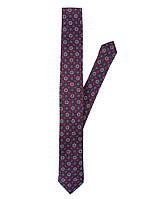 Мужской галстук в бордовом цвете с узором Pierre Cardin оригинальный!