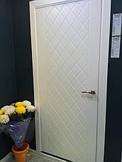 Двери TANGO - полотно+коробка+2 к-кта наличников+добор 77мм, крашенные белый мат, серия CORTES, фото 2