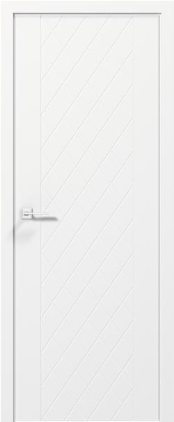 Двери TANGO - полотно+коробка+2 к-кта наличников+добор 77мм, крашенные белый мат, серия CORTES