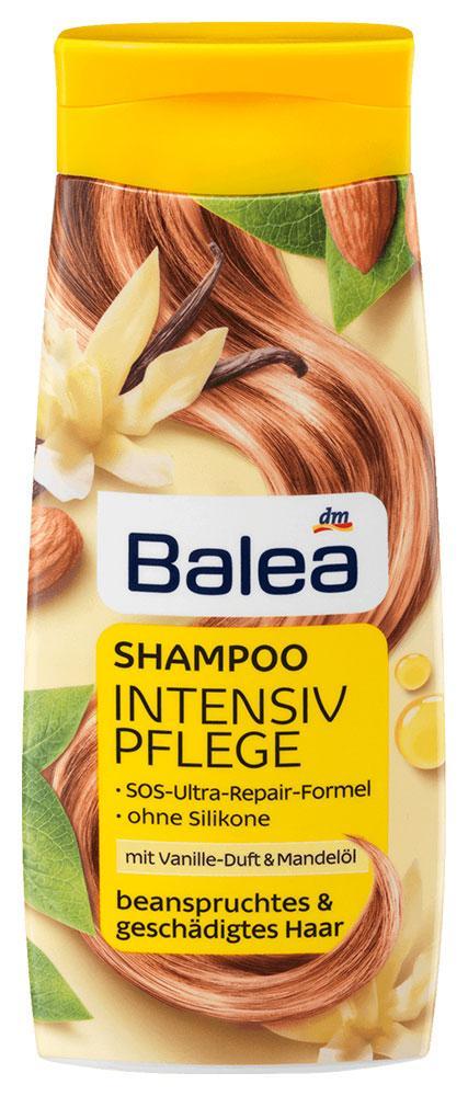 Шампунь Balea Intensiv pflege с ароматом ванили и миндальным маслом для поврежденных волос 300мл