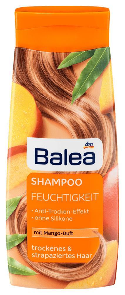 Шампунь Balea Feuchtigkeit с ароматом манго для сухих и поврежденных волос 300мл