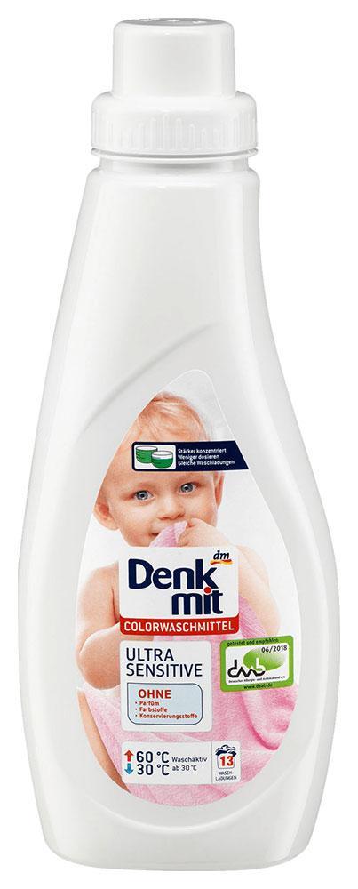 Стиральный гель Denkmit Ultra Sensitive для цветного детского белья 750мл 13 стирок