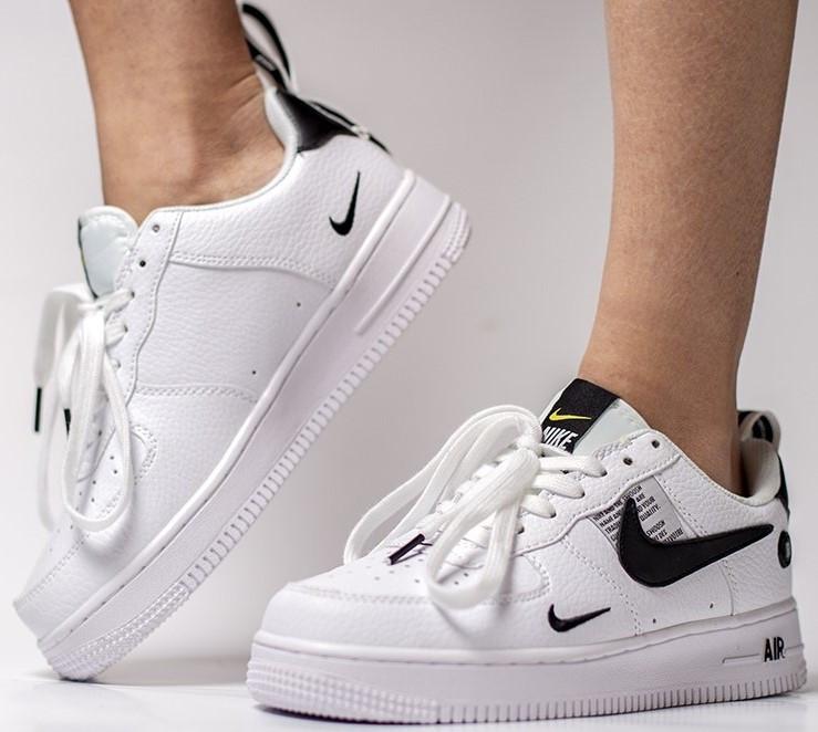 Мужские кроссовки Nike Air Force Utility (Premium-class) белые