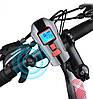 Качественная велофара XANES SFL15 с сигналом и спидометром - влагостойкая