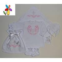 Подарочный крестильный комплект для девочки. Размер 62 - 68