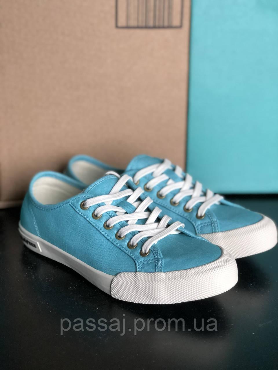 Блакитні, бірюзові кеди бренд seavees 06/67 monterey oxford seevees