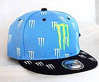 Кепка реперка Monster подростковая, голубая (54-56 см)