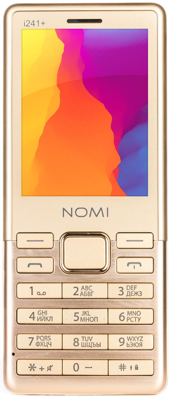 Кнопочный мобильный телефон Nomi i241+ dark Gold
