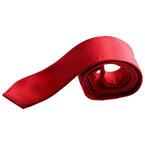 Галстук подростковый самовяз узкий (селедка) красный, фото 2
