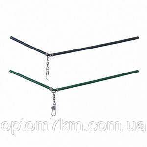 Противозакручиватель изогнутый зеленый 20см (20ШТ)