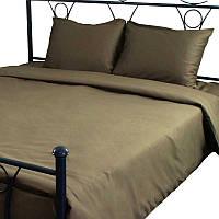 Комплект постельного белья Руно Евро сатин арт.845.137К_Brown