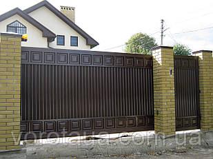 Уличные ворота и калитки Hardwick с заполнением оцинкованным профилем