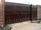 Уличные ворота и калитки Hardwick с заполнением оцинкованным профилем, фото 2