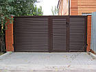Уличные ворота и калитки Hardwick с заполнением оцинкованным профилем, фото 5