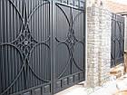 Уличные ворота и калитки Hardwick с заполнением оцинкованным профилем, фото 7