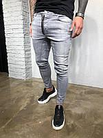 Мужские крутые джинсы , серые (зауженные ) - 2