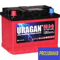 Автомобильный аккумулятор Uragan 60 Ач 500 А (0) R+