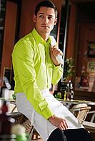 Рубашка официанта и бармена мужская TEXSTYLE длинный рукав кислотная