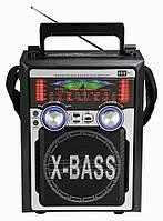 Портативная акустика KN-61-REC, радиоприёмник с кардиридером, функцией записи, микрофоном, пультом ДУ, фото 1