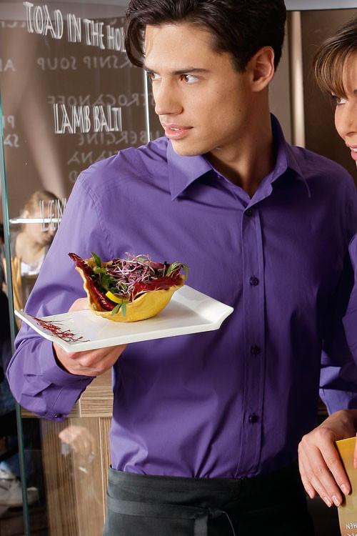 Рубашка мужская официанта бармена TEXSTYLE классическая фиолетовая