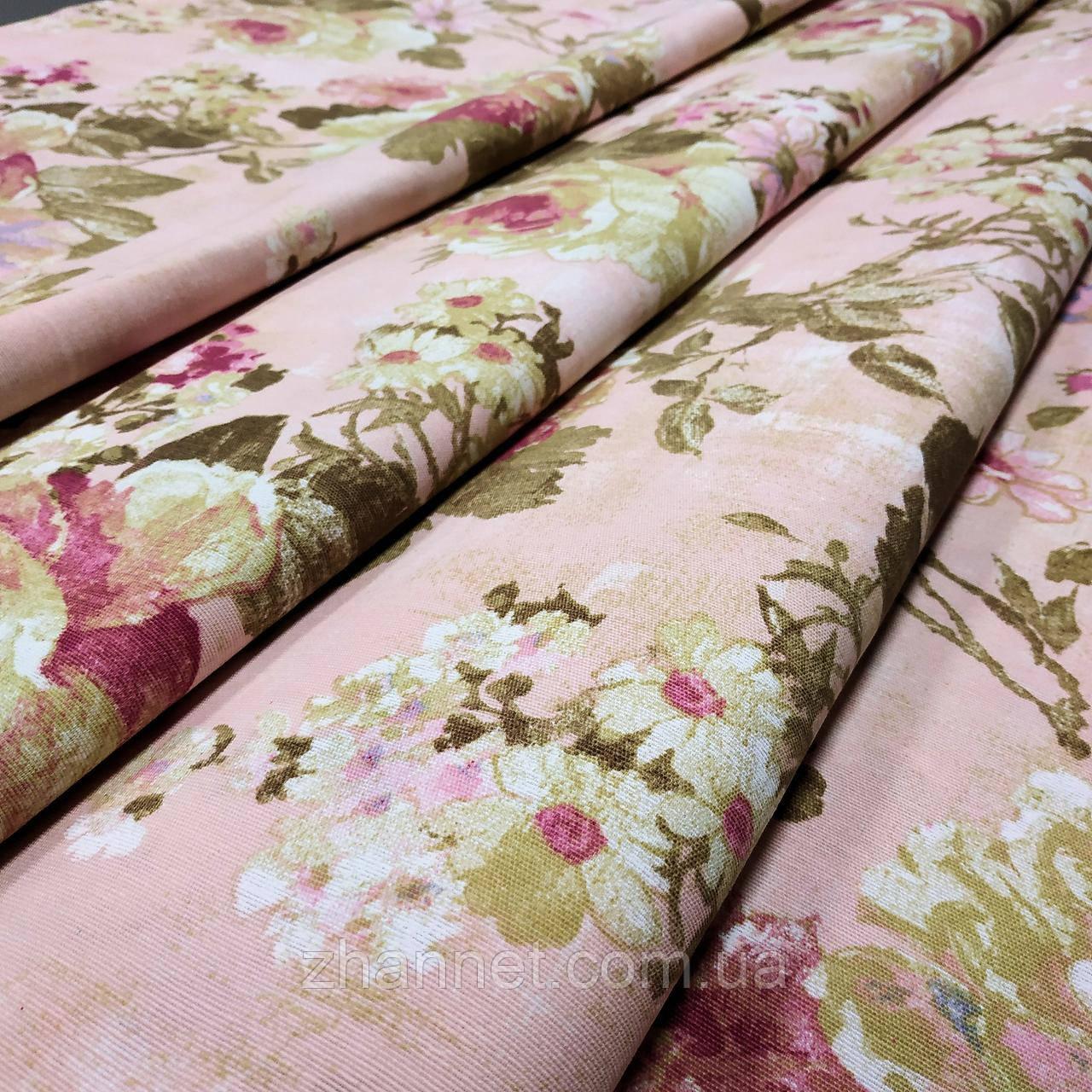 Ткань для штор Irati бархатная роза 280 см (163041)