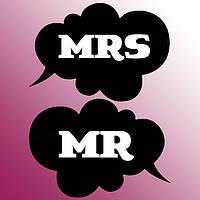 """Таблички для свадебной фотосессии """"Mrs&Mr"""""""