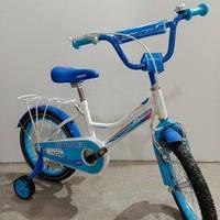 """Велосипед 16"""" дюймов 2-х колесный Crosser C4, ручной тормоз, звоночек, доп. колеса"""