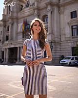 Платье  стройнящее в полоску  Ткань лён принт   42.44.46.48  Цвет - на фото, фото 1