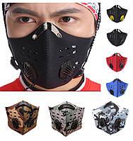 Защитная маска / респиратор из неопрена со сменным угольным фильтром для фильтрации воздуха INBIKE