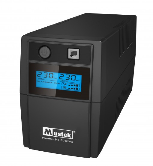ИБП (UPS) line-interactive 800VA Mustek PowerMust 800 LCD 480W USB бу