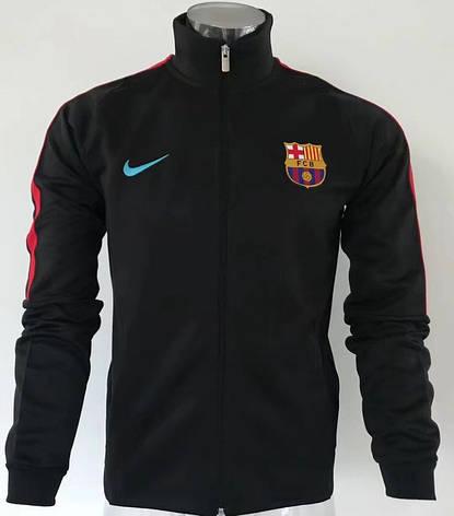 91bb9505 Мужская спортивная олимпийка (кофта) Nike-Barselona, Барселона, Найк, черная