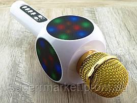 Karaoke L19  WS-1816  LED, L19 блютуз mp3 микрофон с караоке, белый, фото 3