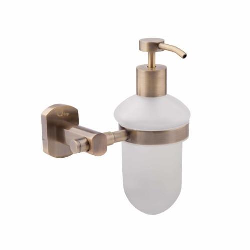 Настенный дозатор для жидкого мыла 200 мл QT Liberty ANT 1152 цвет бронза