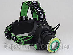 Налобный фонарь WD419 T6+ COB 100000W Black (18650×2, Zoom, micro USB)