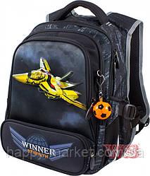 Рюкзак школьный для мальчиков самолет желтый 928-б Winner