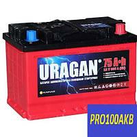Автомобильный аккумулятор Uragan 75 Ач 600 А (0) R+