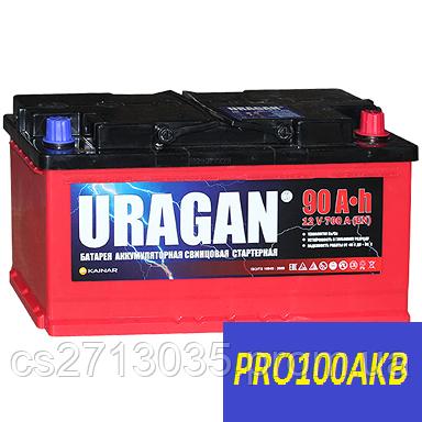 Автомобильный аккумулятор Uragan 90 Ач 700 А (0) R+