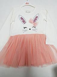 Нарядное платье для девочки Зайка на возраст 1,5; 2; 3; 4; 5 лет