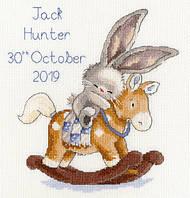 Набор для вышивания метрики Bothy Threads XBB13 Bebunni Rock A Bye Bunny Cross Stitch Kit, фото 1