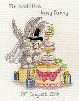 Набор для вышивания метрики Bothy Threads XBB8 Bebunni Cutting The Cake Cross Stitch Kit