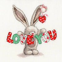 Набор для вышивания Bothy Threads XBB9 Bebunni Love You Cross Stitch Kit