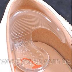 Силиконовые вставки на задник обуви 2в1 от натирания и скольжения пяток. Комплект 2шт (1пара).