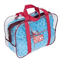 Детский плюшевый плед Ярмирина Лазурный 80х100 см в подарочной сумке
